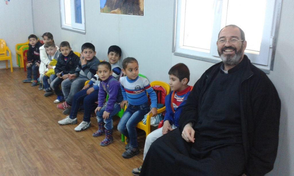 Nell'asilo dei bambini di uno dei Campi Profughi